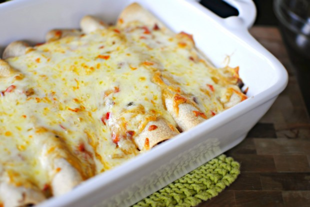 Simply Scratch Lighter Chicken Enchiladas - Simply Scratch