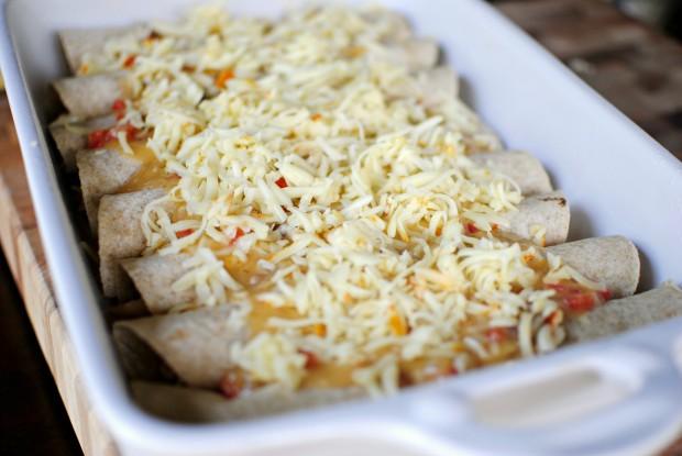 Simply Scratch » Lighter Chicken Enchiladas