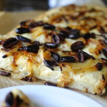 Focaccia close up