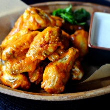 Spicy Garlic Wings & Blue Cheese Dip
