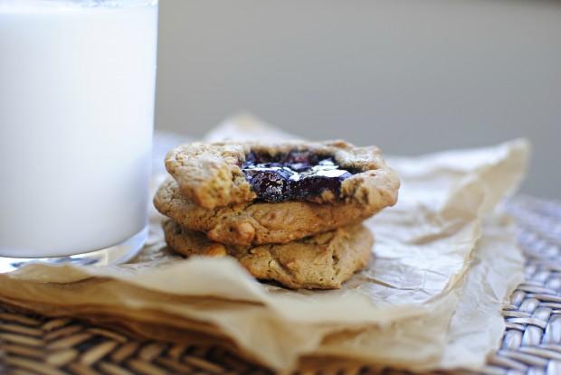 Peanut Butter Jam Cookies l SimplyScratch.com
