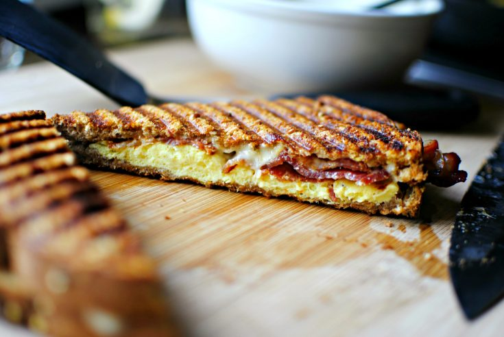 Bacon and Eggs Breakfast Panini