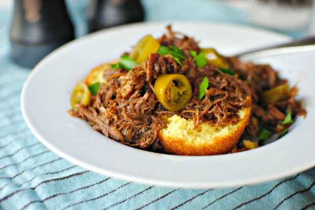 slow cooker balsamic honey pulled pork l simplyscratch.com