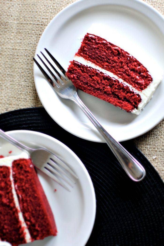 Classic Red Velvet Cake l SimplyScratch.com #redvelvet #valentinesday #cake #fromscratch #homemade