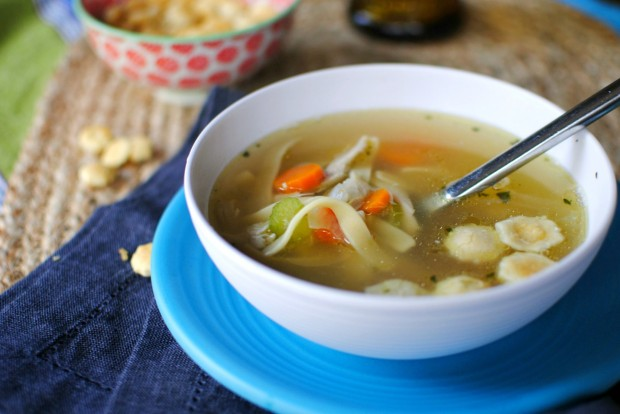 Easy Chicken Noodle Soup From A Leftover Roasted Chicken Recipes ...