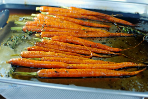 Glazed Whole Roasted Carrots l SimplyScratch.com