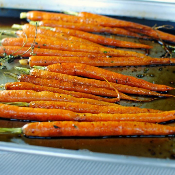 Honey Balsamic Glazed Whole Roasted Carrots