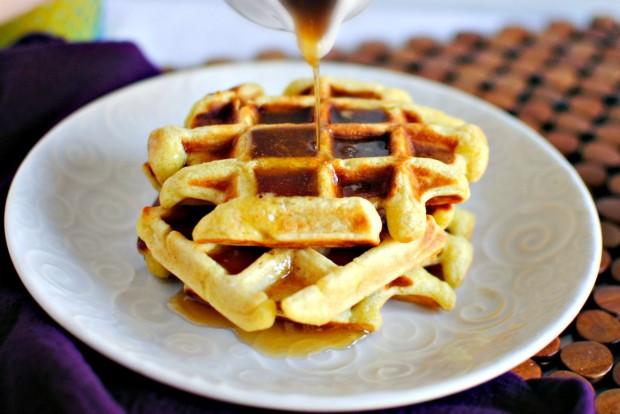 Simply Scratch Honey Buttermilk Waffles + Vanilla Maple ...