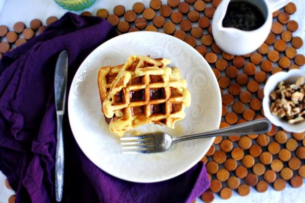 Honey Buttermilk Waffles l SimplyScratch.com