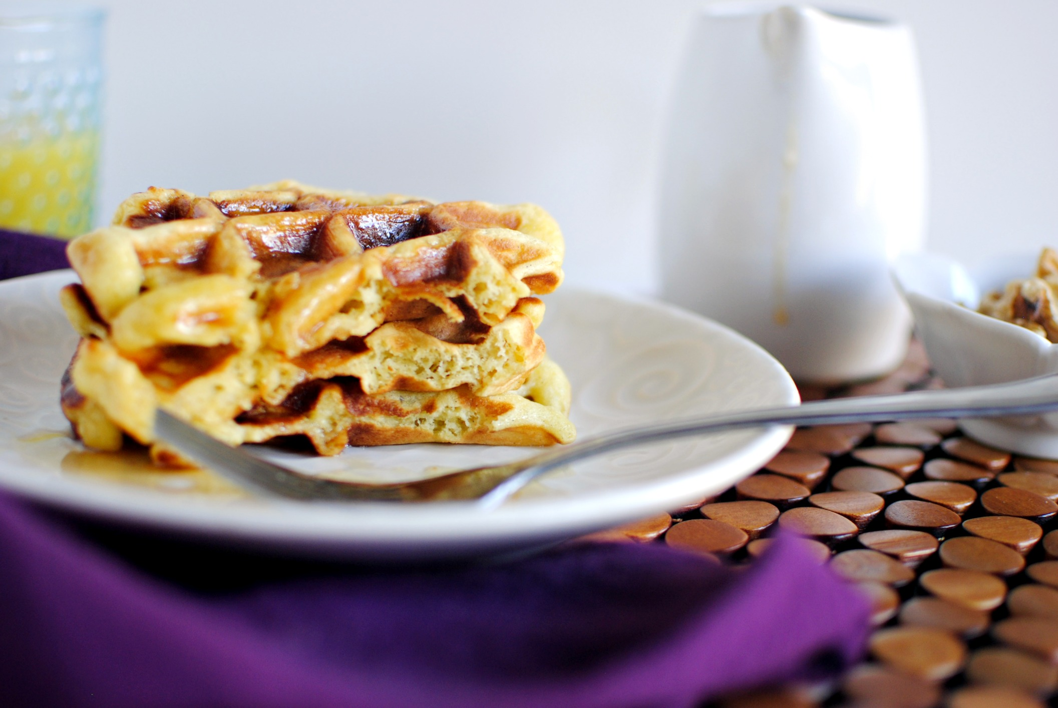 ... Buttermilk Waffles + Vanilla Maple Syrup + a WINNER!! - Simply Scratch