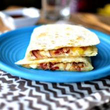 Barbecue Bacon and Pineapple Quesadilla1