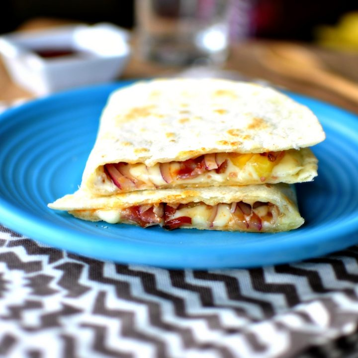 Barbecue Bacon and Pineapple Quesadillas