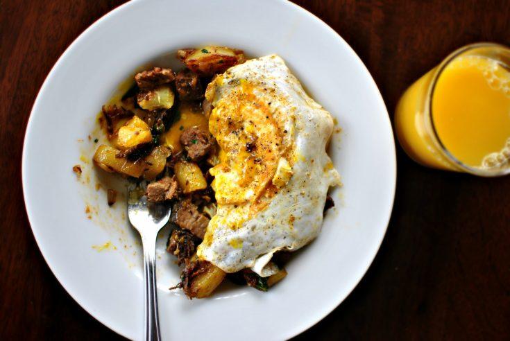 Fried Eggs over Breakfast Hash