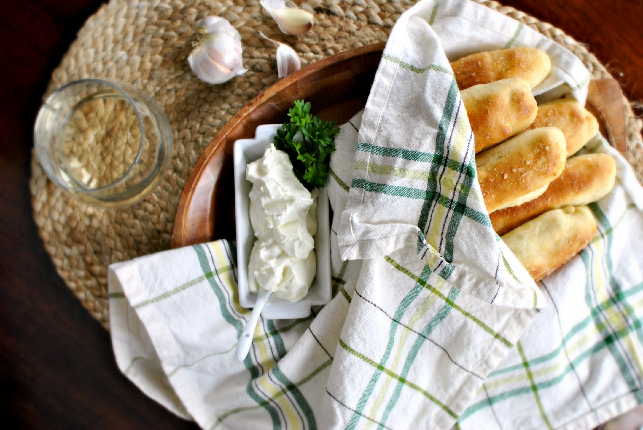 Homemade Breadsticks and Garlic Cheese Dip 01