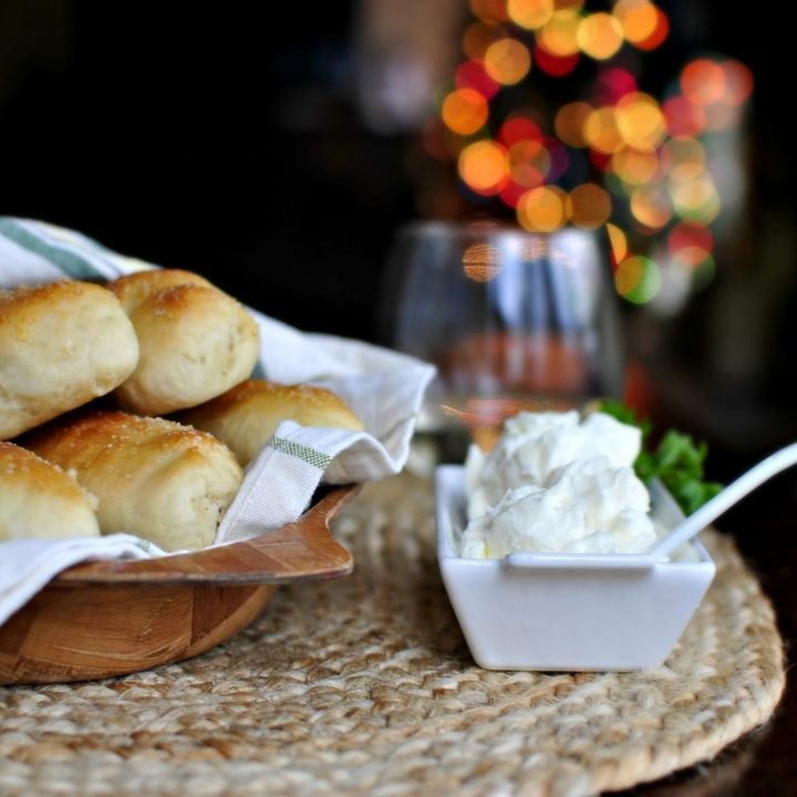 Homemade Breadsticks with Garlic Cheese Dip