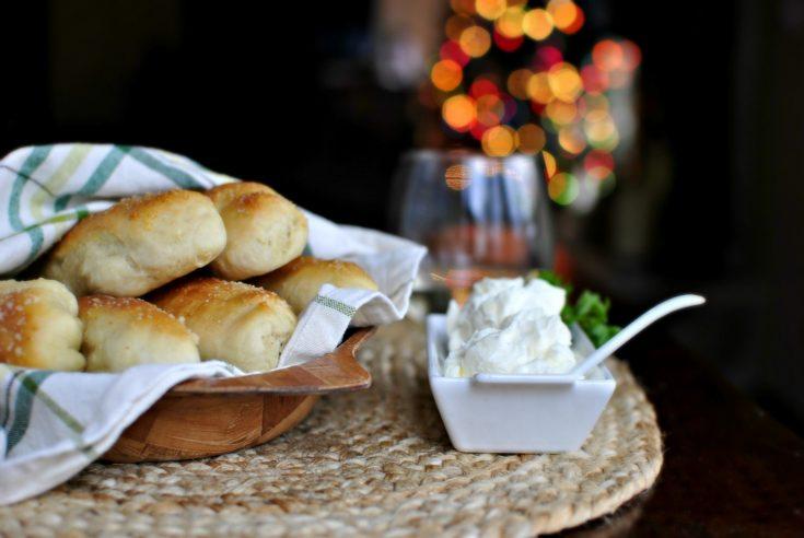 Homemade Breadsticks with Garlic Cheese Dip