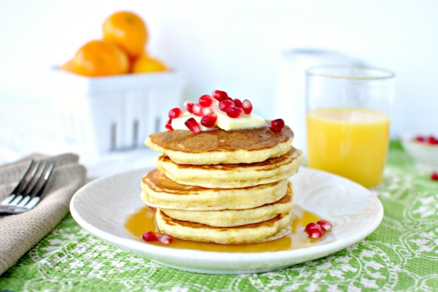 Eggnog Pancakes l SimplyScratch.com