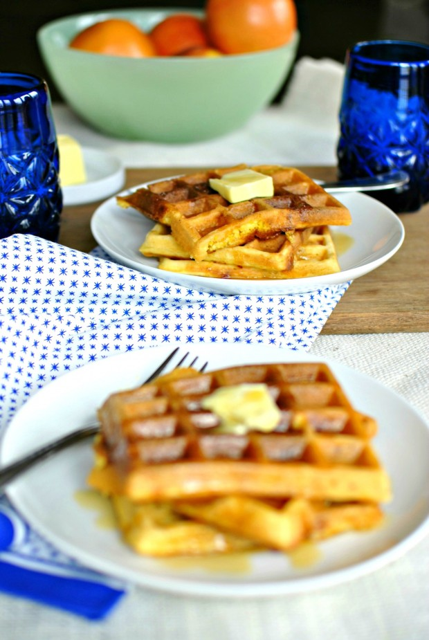 Bacon & Cheddar Cornmeal Waffles 02