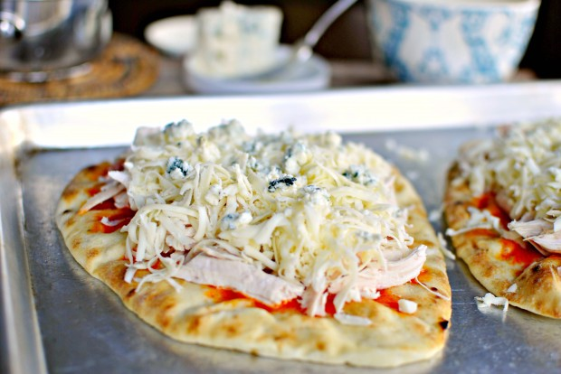 Buffalo Chicken Flat Bread Pizza -  Blue Cheese Sprinkle