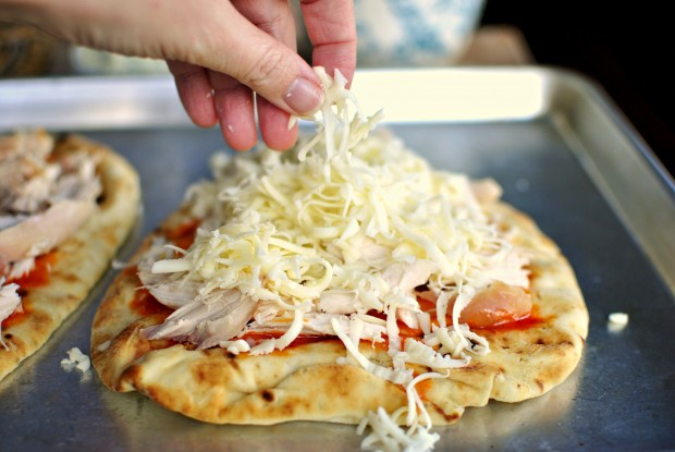 Buffalo Chicken Flat Bread Pizza -  Cheese