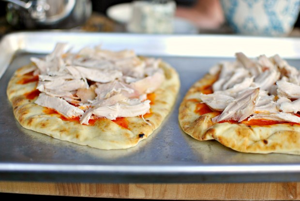 Buffalo Chicken Flat Bread Pizza - Chicken