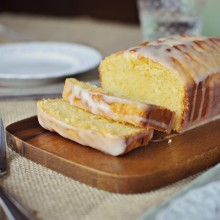 Grapefruit Sour Cream Cake Slice SimplyScratch.com