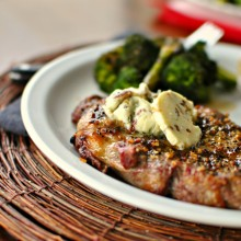 Ribeye with Caramelized Shallot & Blue Cheese Butter