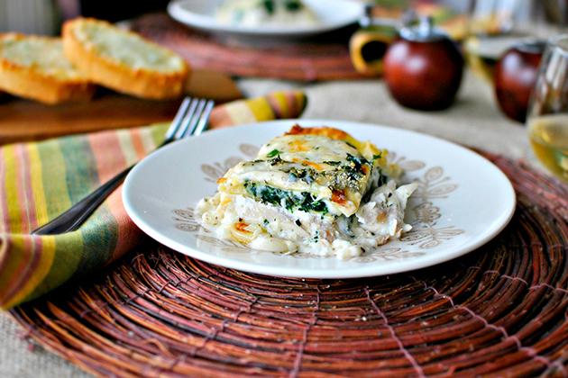 White Chicken Cheese Lasagna   A Tasty Kitchen Recipe!