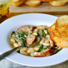 Chicken Sausage and White Bean Stew-Bite