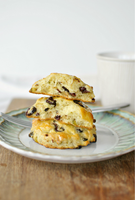 Dark Chocolate Chip, Cranberry-Pistachio Scones 01