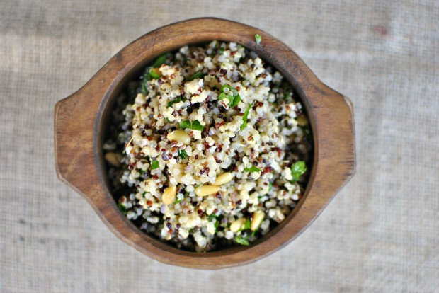 Lemony Herbed Quinoa Salad with Toasted Pinenuts top