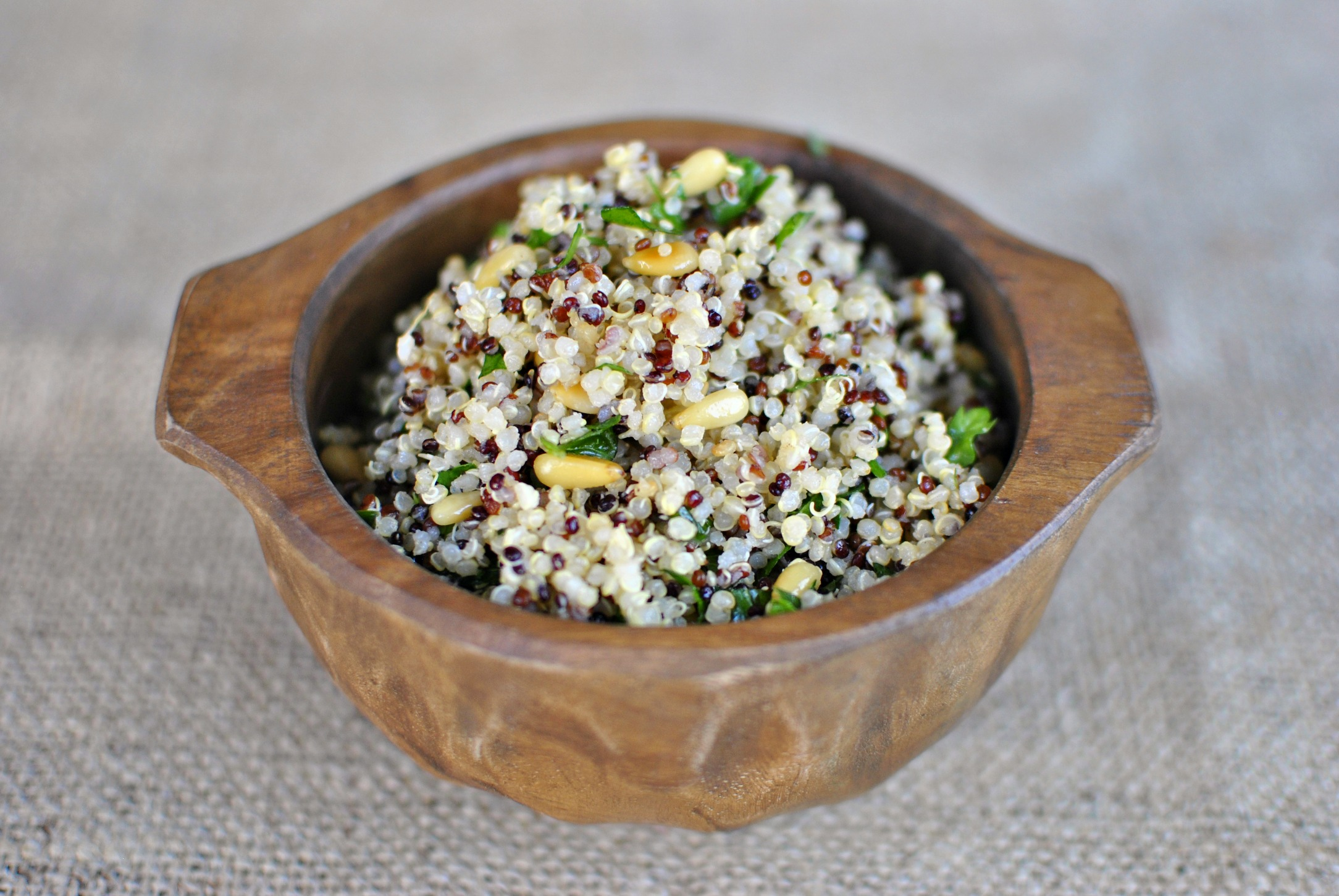 ... Herb Rainbow Quinoa Salad with Toasted Pine Nuts - Simply Scratch