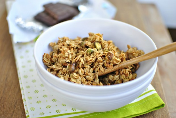 Spiced Pistachio and Toasted Coconut Granola Cereal