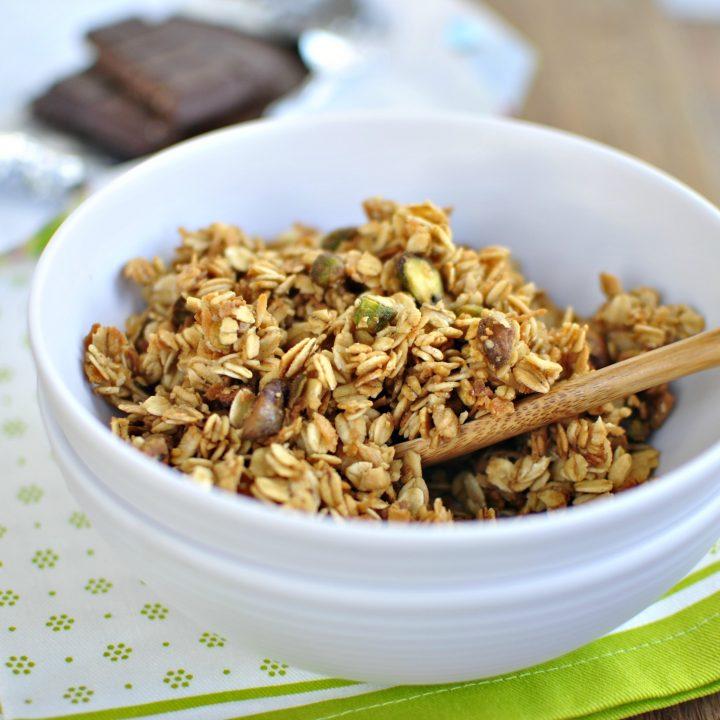 Spiced Pistachio Toasted Coconut Granola