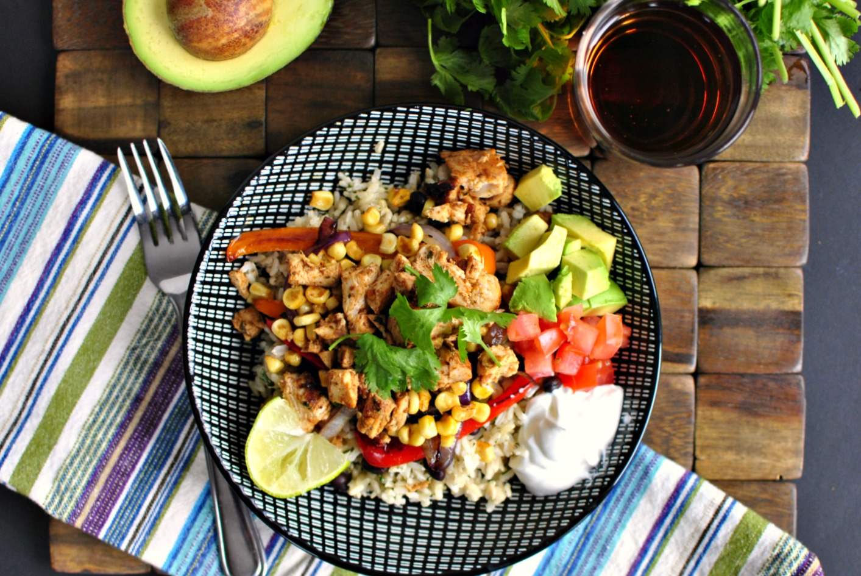 Simply Scratch Chipotle Chicken Fajita Rice Bowl - Simply Scratch