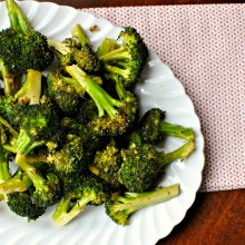 marinated and roasted Broccoli