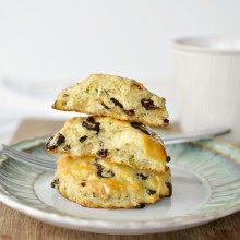 stacked scones