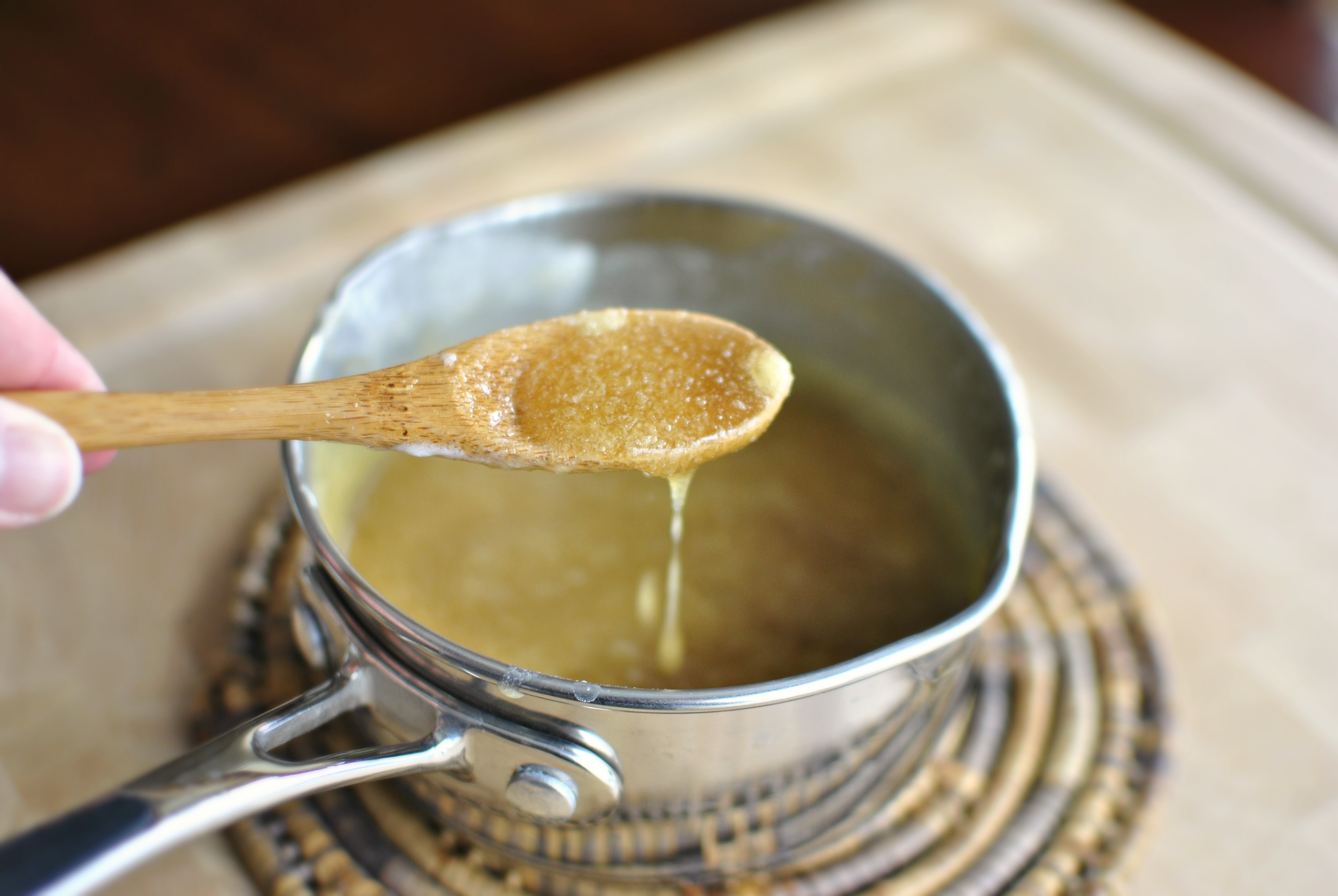 Simply Scratch » Honey Maple Glazed Cornbread Cake