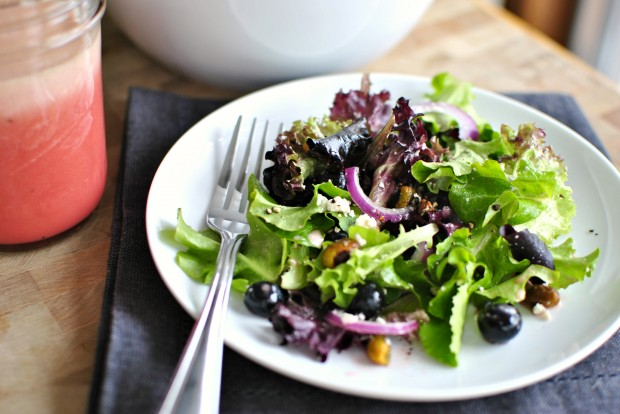 Blueberry & Pistachio Spring Salad with Pomegranate Honey Dressing 3