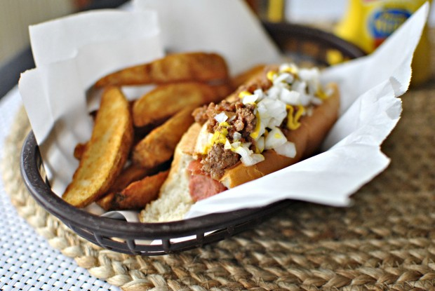 Detroit Style Coney Dog bite