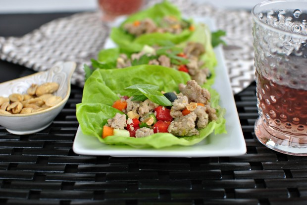 Spicy Pork and Veggie Lettuce Cups l SimplyScratch.com