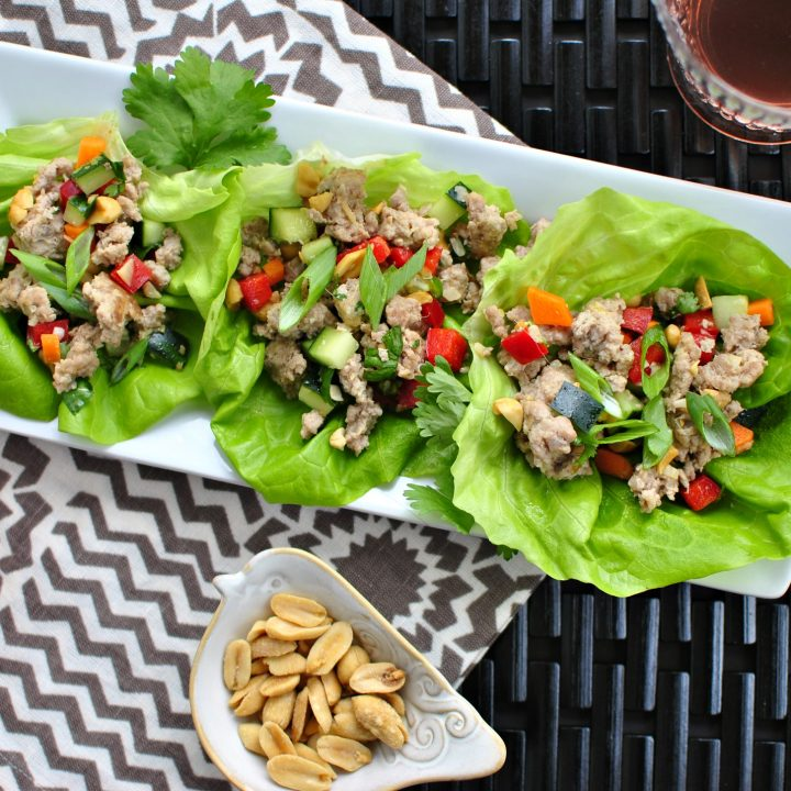 Spicy Pork and Veggie Lettuce Cups