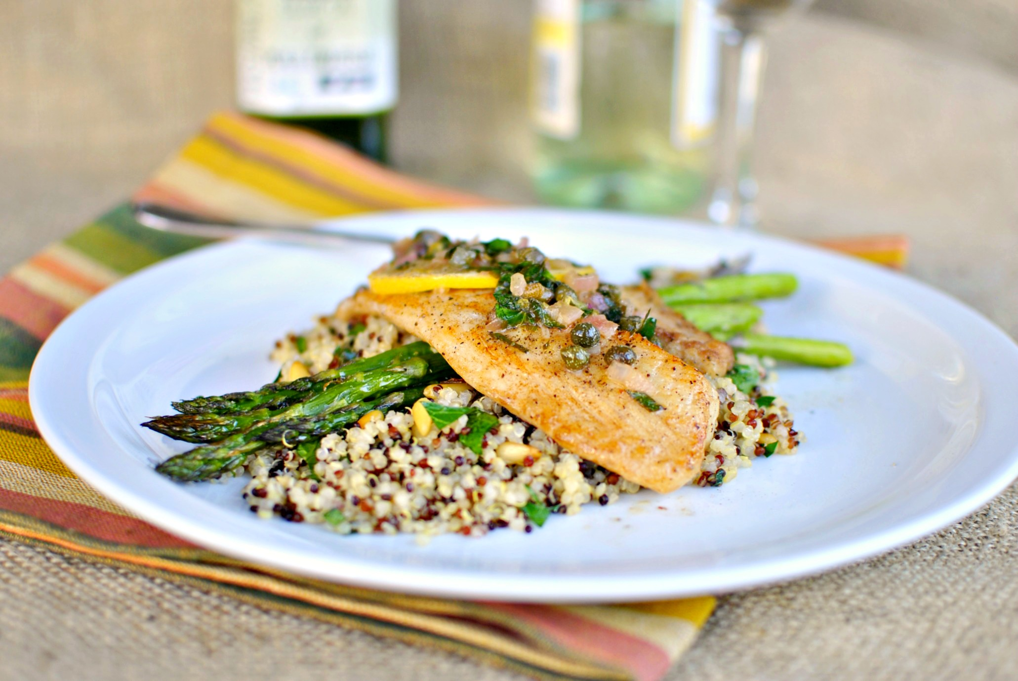 Simply scratch tilapia with lemon caper sauce simply scratch for Lemon butter caper sauce for fish