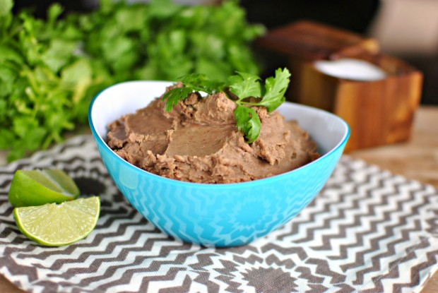 Slow Cooker Refried Beans l SimplyScratch.com