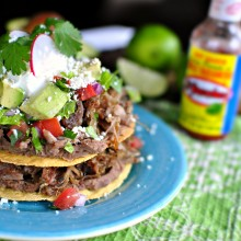 Double Decker Pork Carnita Tostada
