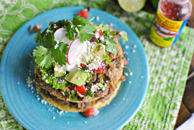 Double Decker Pork Carnitas Tostada 2