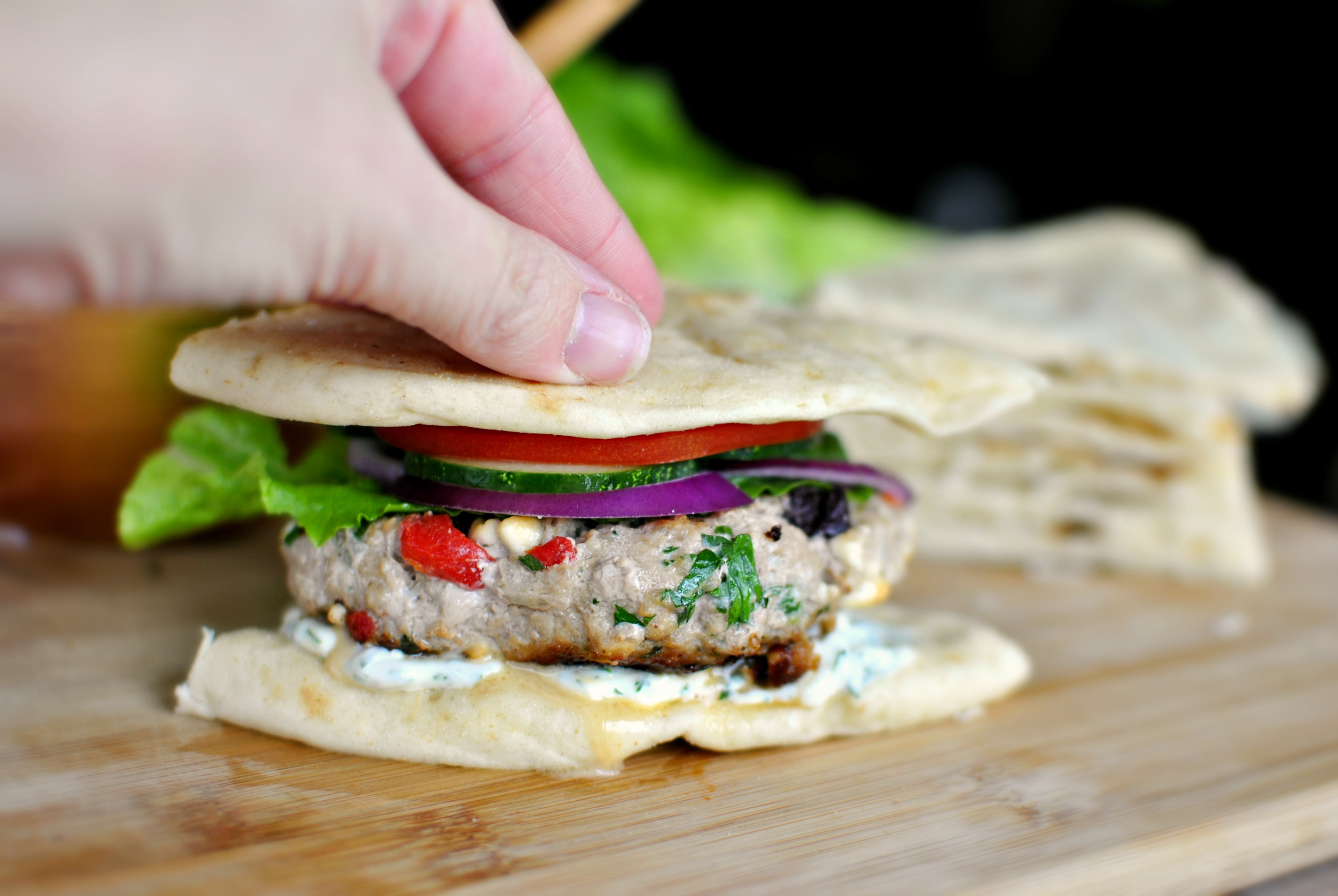 Asian style white house turkey burgers