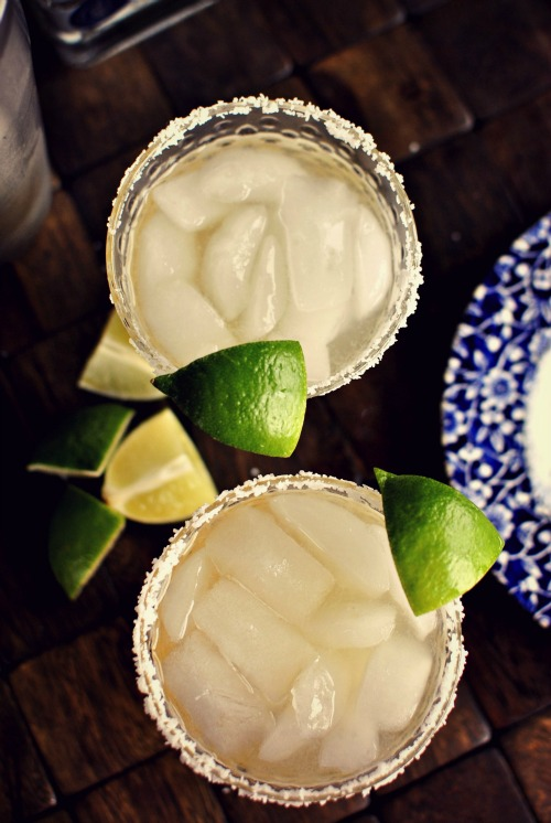 honey lime margaritas l simplyscratch.com