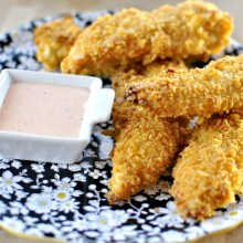 Potato Chip Crusted Chicken Tenders and Spicy Ranch Dip