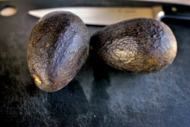 two big avocados
